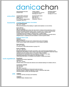 Resume draft
